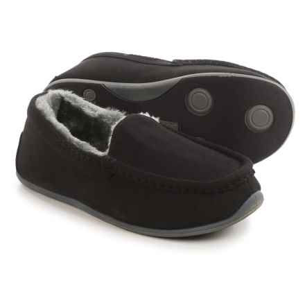 Deer Stags Birch Slippers (For Women) in Black - Closeouts