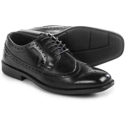 Deer Stags Cade Oxford Shoes - Wingtip (For Men) in Black - Closeouts