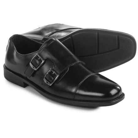Deer Stags Colin Monk Strap Shoes - Leather (For Men) in Black - Closeouts