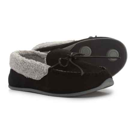 Deer Stags Firepit Moccasins (For Men) in Black - Closeouts