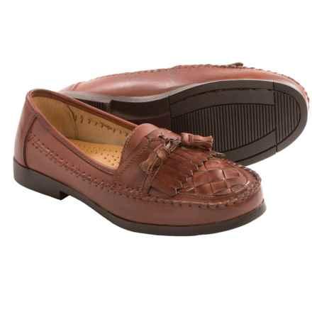 Deer Stags Herman Tassel Loafers - Vegan Leather (For Men) in Dark Maple - Closeouts