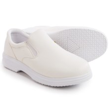 Deer Stags Manager Work Shoes - Slip-Ons (For Men) in White - Closeouts
