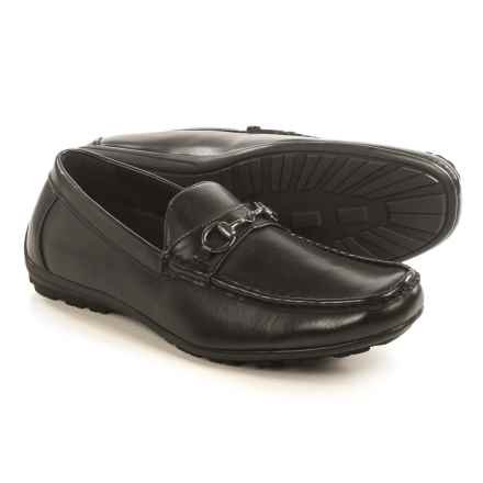 Deer Stags Manual Bit Loafers - Vegan Leather (For Men) in Black - Closeouts