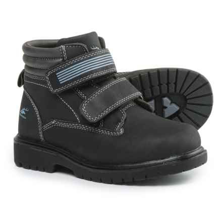 Deer Stags Marker Boots - Waterproof, Insulated (For Boys) in Black/Grey - Closeouts