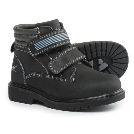 Deer Stags Marker Boots - Waterproof, Insulated (For Boys) in Black/Grey