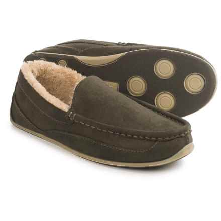 Deer Stags Vail Moccasin Slippers (For Men) in Olive - Closeouts