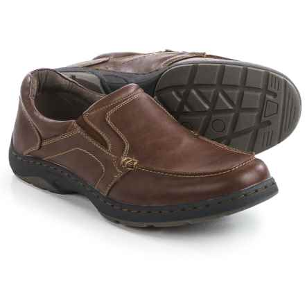 Deer Stags Wells Slip-On Shoes - Leather (For Men) in Redwood - Closeouts