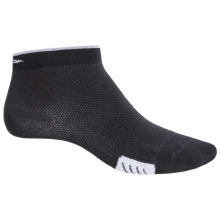 DeFeet Cyclismo Cycling Socks - Below the Ankle (For Men and Women) in Black/White Stripe - Closeouts