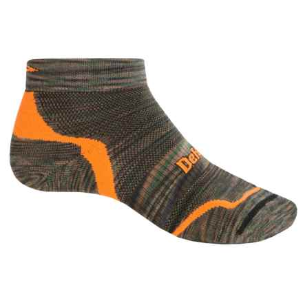 DeFeet D-Evo CoolMax® Running Socks - Below the Ankle (For Men and Women) in Camo/Orange - Closeouts