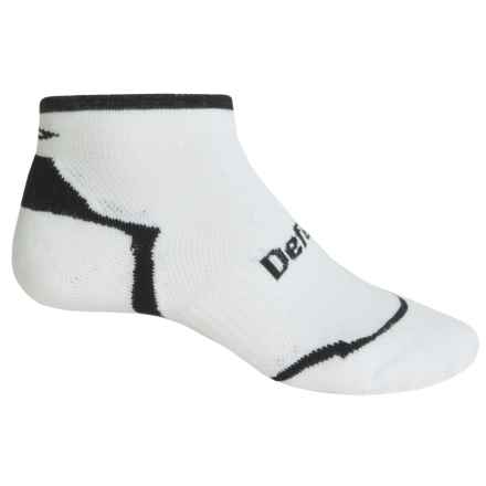 DeFeet D-Evo CoolMax® Running Socks - Below the Ankle (For Men and Women) in White/Black - Closeouts