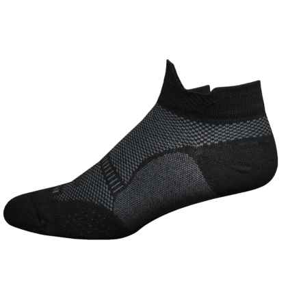 DeFeet DV8 Meta Tabby Running Socks - CoolMax®, Below the Ankle (For Men and Women) in Tabby Black - Closeouts