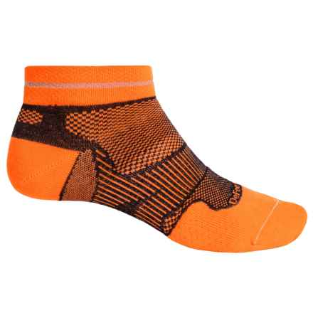 DeFeet Meta Reflector Running Socks - Below the Ankle (For Men and Women) in Orange/Black - Closeouts