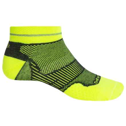 DeFeet Meta Reflector Running Socks - Below the Ankle (For Men and Women) in Yellow/Black - Closeouts