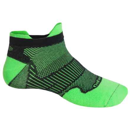 DeFeet Meta Tabby CoolMax® Running Socks - Below the Ankle (For Men and Women) in Green/Black - Closeouts