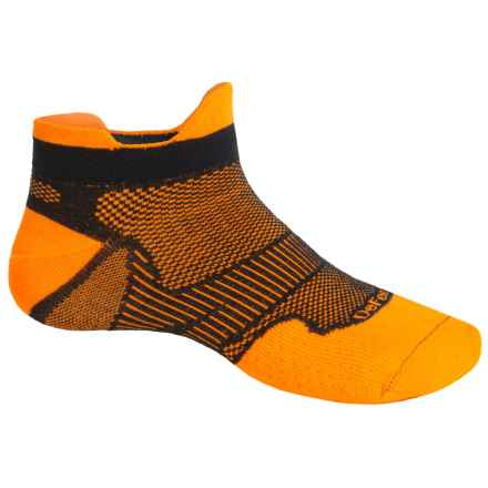 DeFeet Meta Tabby CoolMax® Running Socks - Below the Ankle (For Men and Women) in Orange/Black - Closeouts