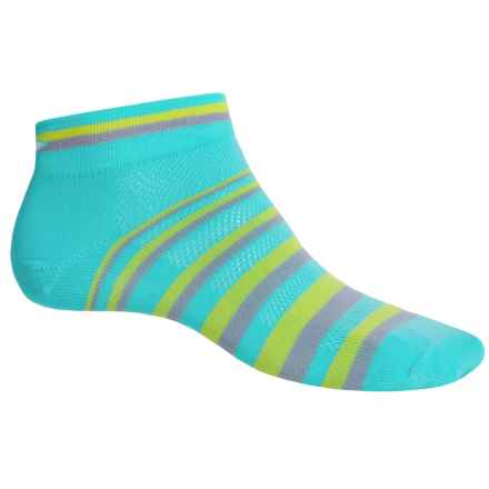 DeFeet Speede Halo DeLine Cycling Socks - Below the Ankle (For Men and Women) in Neptune - Closeouts