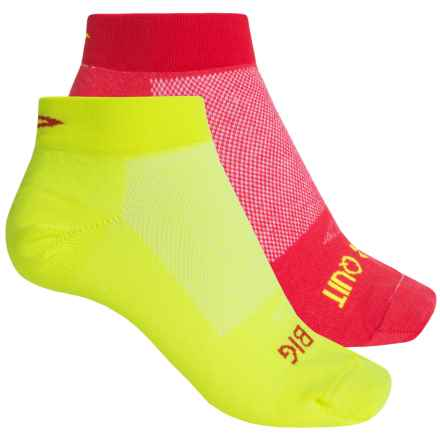 DeFeet Speede Inspirational Cycling Socks - Below the Ankle, 2-Pack (For Women) in Red/Yellow - Closeouts