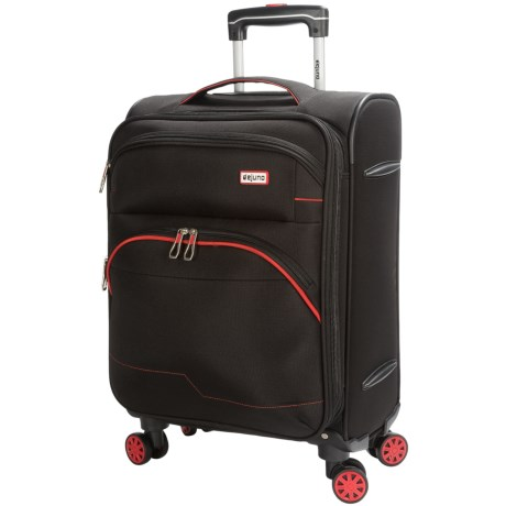 """Dejuno Everest Collection Spinner Suitcase - 24"""" in Black"""