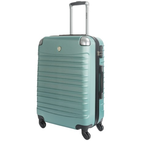 """Dejuno Impact Collection Hardside Spinner Suitcase - 24"""" in Green"""