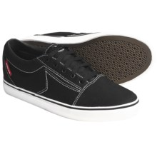 Dekline Belmont Skate Shoes (For Men) in Black/White Stitch Canvas - Closeouts