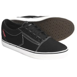 Dekline Belmont Skate Shoes (For Men) in Black/White Stitch Canvas