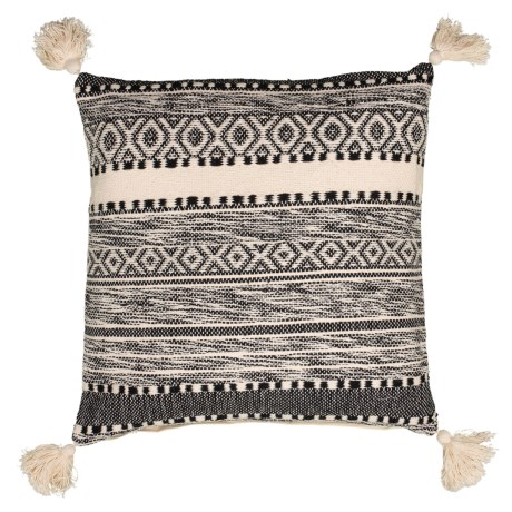 Image of Dellamae Natural Textured Throw Pillow - 20x20? Feathers