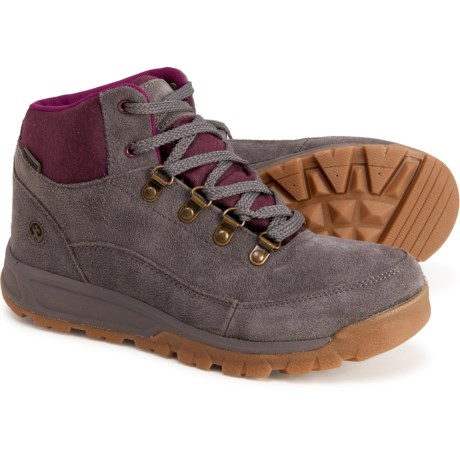 Delmont Hiking Boots - Waterproof (For Women) - STONE/BERRY (6 ) -  Northside