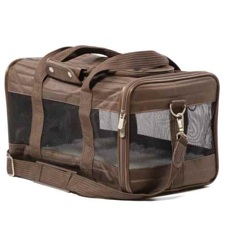 Deluxe Pet Carrier - Large in Brown - Closeouts