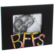 "Demdaco Colorful Devotions Sculpture Frame - 4x6"" in Bffs - Closeouts"