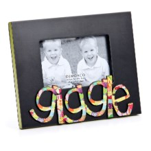 "Demdaco Colorful Devotions Sculpture Frame - 4x6"" in Giggle - Closeouts"