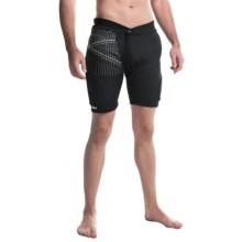 Demon United Flexforce Pro Padded Shorts (For Men) in Black/Green - Closeouts