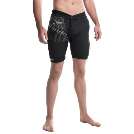Demon United Flexforce Pro Padded Shorts (For Men) in Black/Green