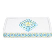 Dena Diamond Ceramic Soap Dish in White - Overstock