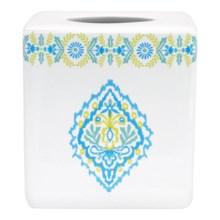 Dena Diamond Ceramic Tissue Box in White - Overstock