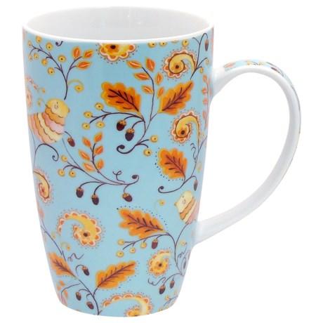 Dena Home Coffee Mugs - Porcelain, Set of 4 in Birds