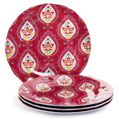Dena Morocco Heavy-Gauge Melamine Ikat Salad Plates- Set of 4