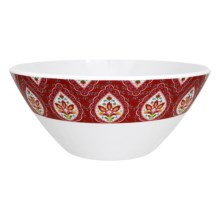 Dena Morocco Heavy-Gauge Melamine Ikat Serving Bowl in Red / White - Overstock