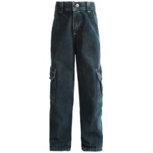Denim Cargo Jeans - Relaxed Fit (For Boys) in Medium Blue - 2nds