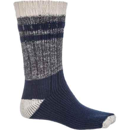 Denver Hayes Boot Socks - Crew (For Men) in Natural/Black Marl/Navy - 2nds