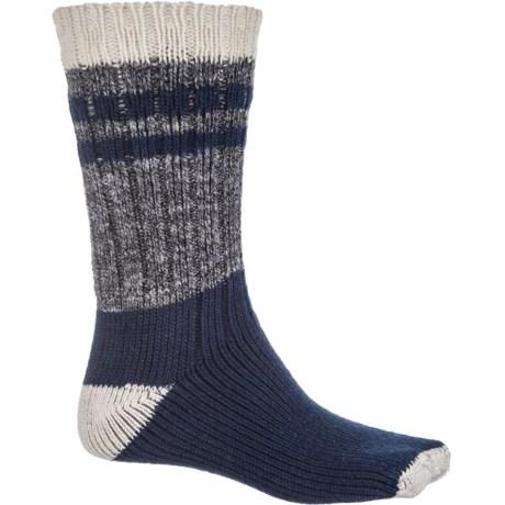 Denver Hayes Boot Socks - Crew (For Men) in Natural/Black Marl/Navy