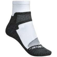 Denver Hayes X-Odor Driwear Socks - Lightweight, Ankle (For Women) in White/Heather Grey - Closeouts