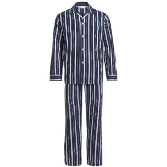 Derek Rose Royal 157 Pajamas - Long Sleeve (For Men) in Navy
