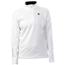 Descente Amelia Shirt - Zip Neck, Long Sleeve (For Women) in Super White - Closeouts