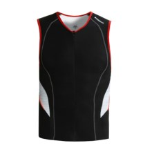 Descente C6 Tri Shirt - Sleeveless (For Men) in Black/White - Closeouts