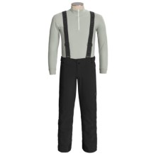 Descente Carve Snow Pants with Suspenders - Insulated (For Men) in Black - Closeouts