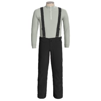 Descente Carve Snow Pants with Suspenders - Insulated (For Men) in Black