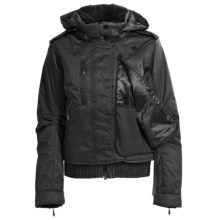 Descente Chloe Glamour Jacket - Insulated, Fur Trim (For Women) in Black - Closeouts