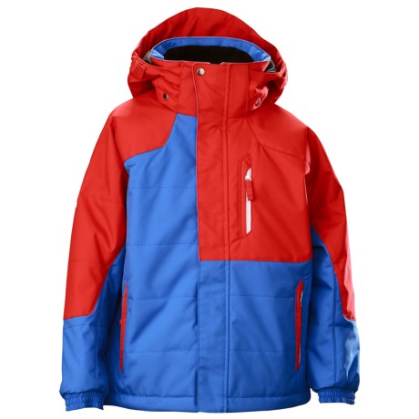Descente Cruiser Junior Ski Jacket - Insulated (For Boys) in Ruby Red/Cobalt Blue