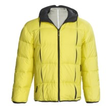 Descente DNA Doc Down Jacket - Reversible (For Men) in Limeyellow/Black - Closeouts