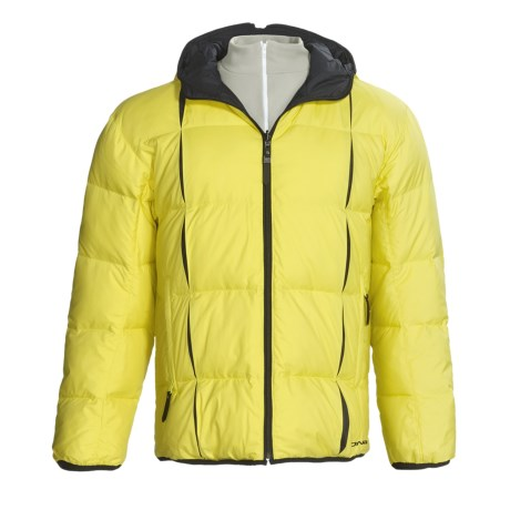 Descente DNA Doc Down Jacket - Reversible (For Men) in Limeyellow/Black